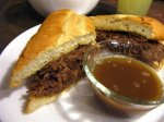French Dip Sandwiches (or Philly Cheese Steaks)